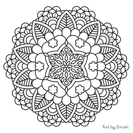 Intricate Elephant Coloring Pages at GetColorings.com