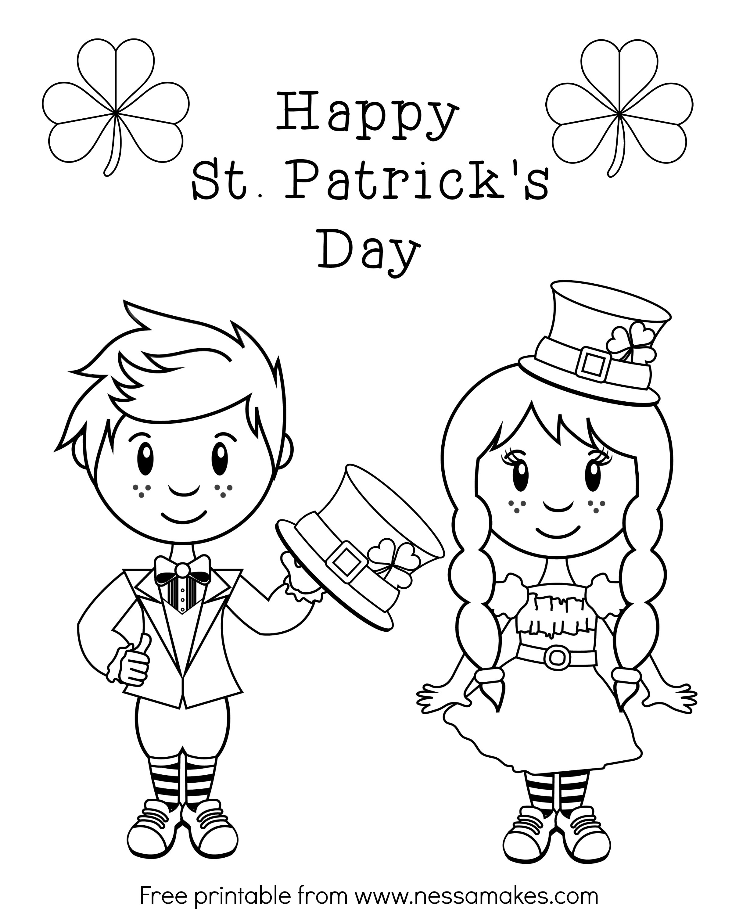 Irish Girl Coloring Pages At Getcolorings