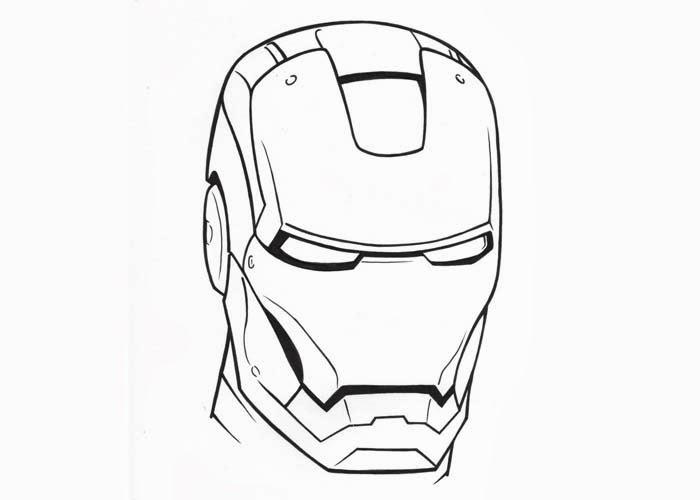Printable Iron Man Mask Coloring Page Novocom Top