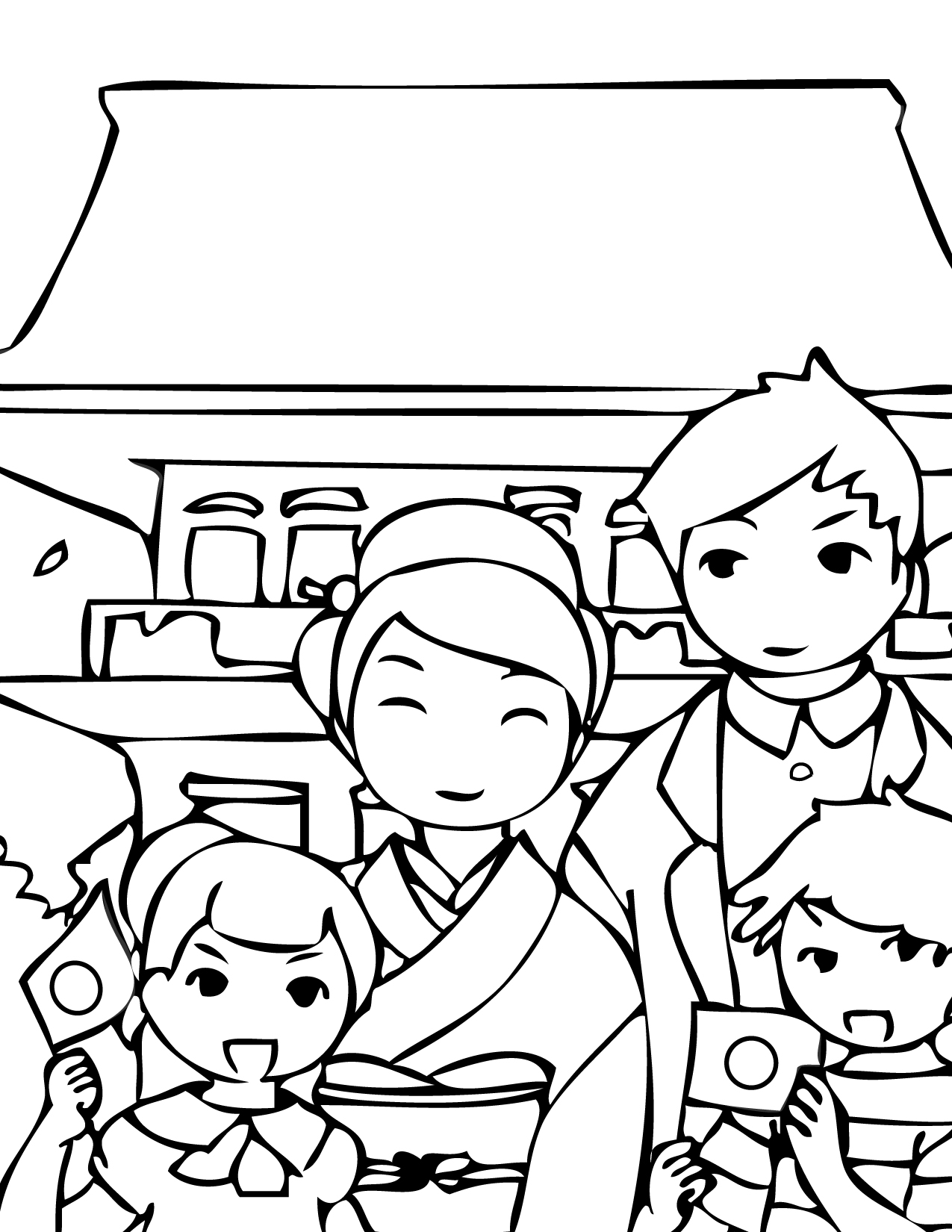 Japanese Geisha Coloring Pages At Getcolorings