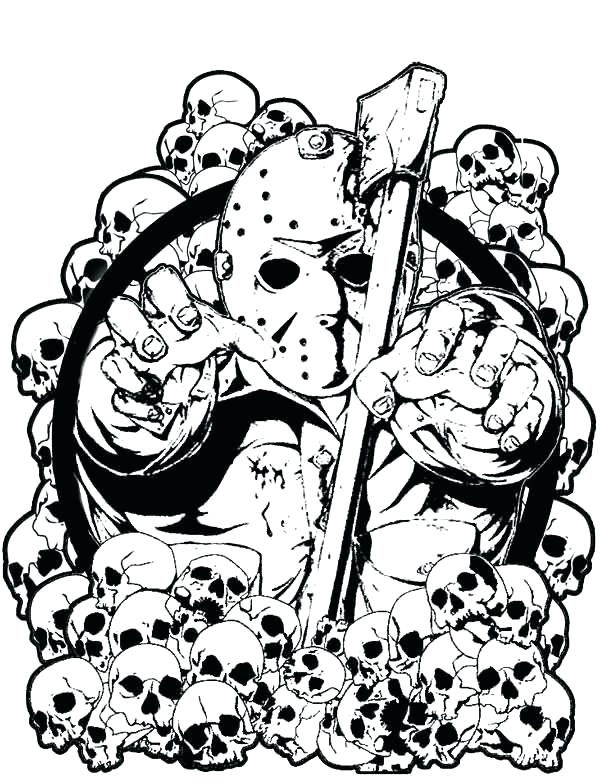 jason mask coloring pages at getcolorings  free