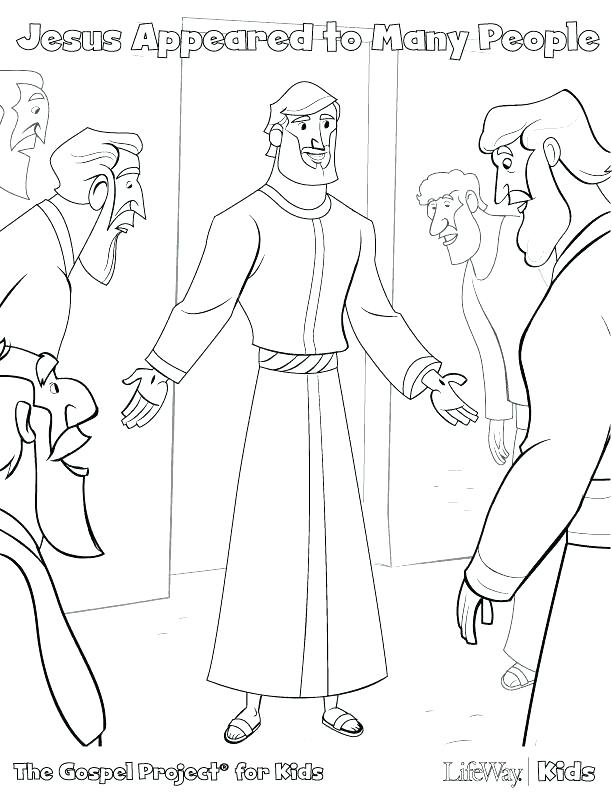 Jesus Calling His Disciples Coloring Pages at GetColorings