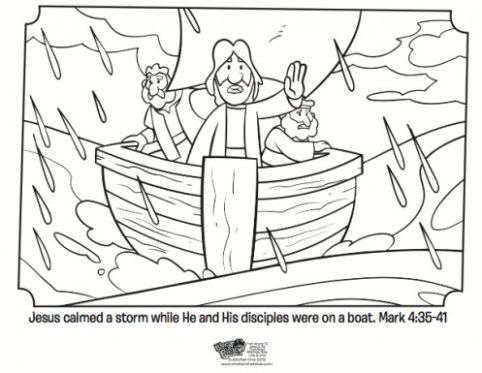 Jesus Calms The Storm Coloring Page at GetColorings.com