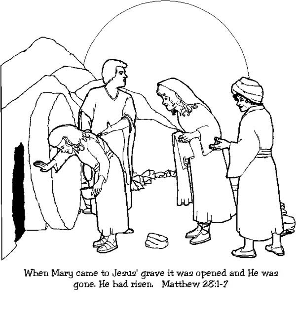 Jesus Resurrection Coloring Page at GetColorings.com