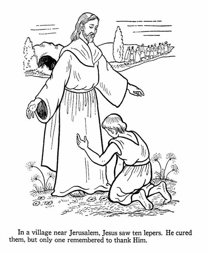 Jesus Heals The Paralyzed Man Colouring Pages at