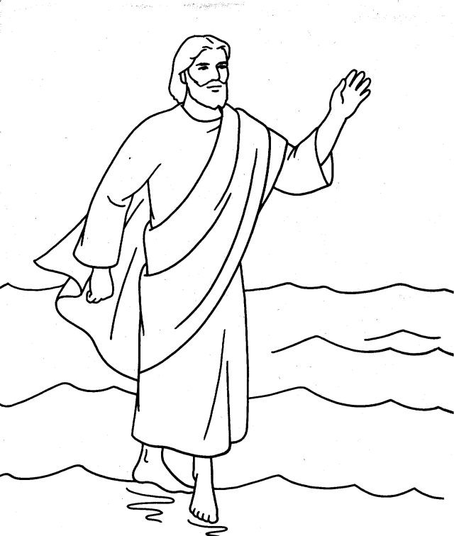 Jesus Walks On Water Coloring Page at GetColorings.com