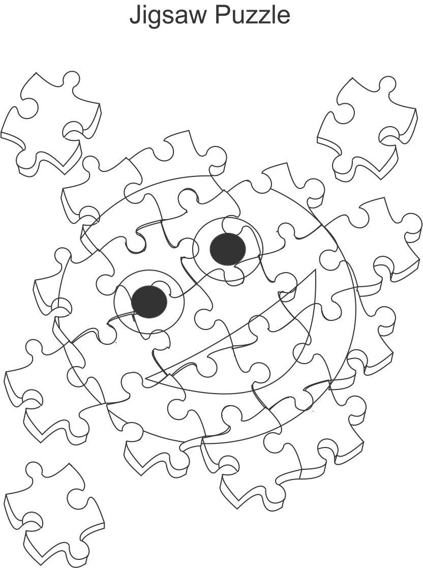 jigsaw puzzle coloring pages at getcolorings  free