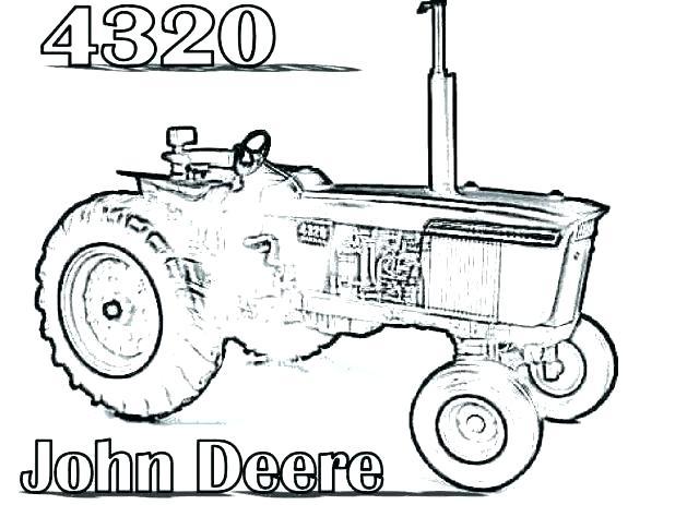 John Deere Combine Coloring Pages at GetColorings.com