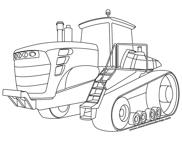 John Deere Tractor Coloring Pages at GetColorings.com