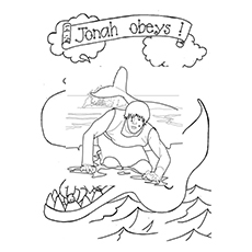 Jonah And The Whale Coloring Page at GetColorings.com