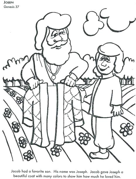 Joseph Coat Of Many Colors Coloring Page at GetColorings