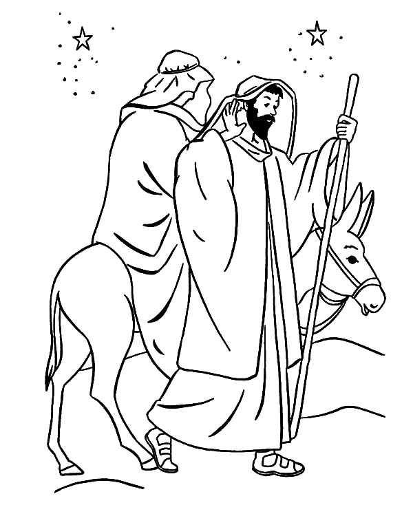 Journey To Bethlehem Coloring Pages at GetColorings.com