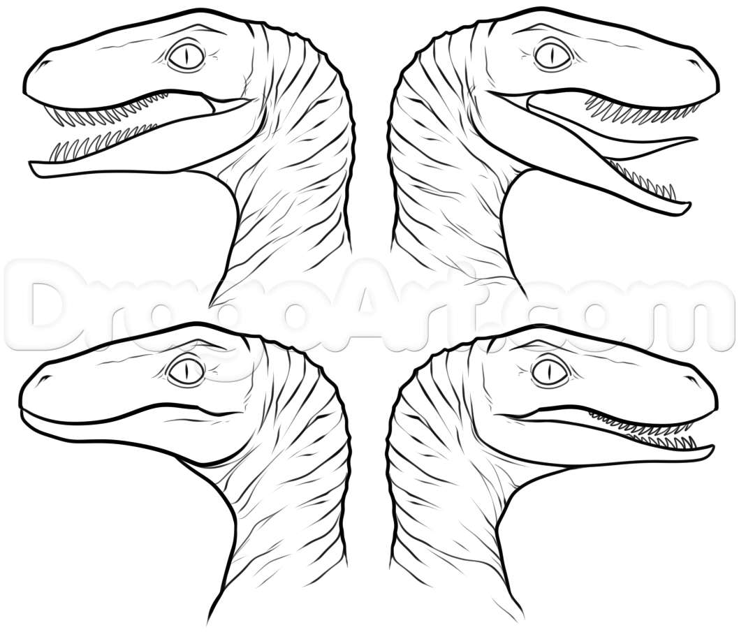Jurassic World Raptor Coloring Pages at GetColorings.com