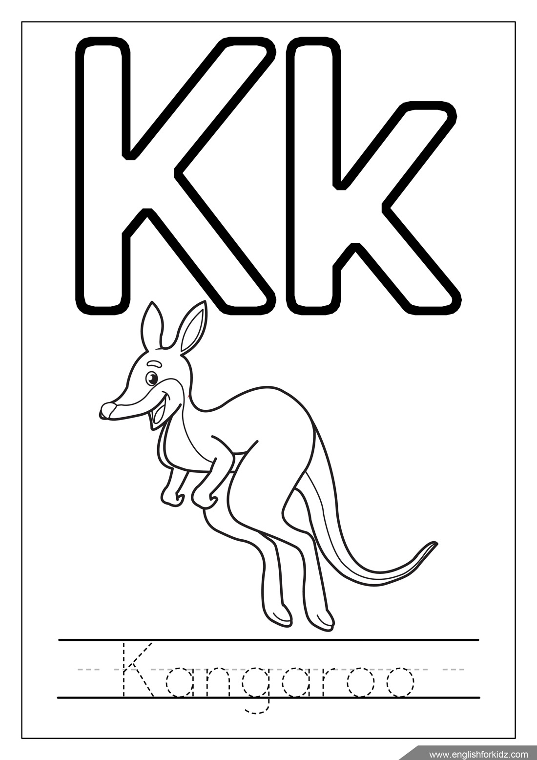 K Coloring Pages At Getcolorings
