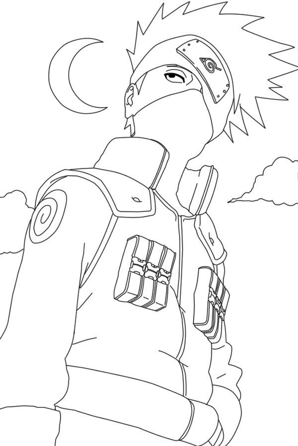 kakashi hatake coloring pages at getcolorings  free