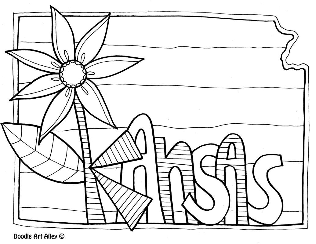 Kansas State Symbols Coloring Pages At Getcolorings