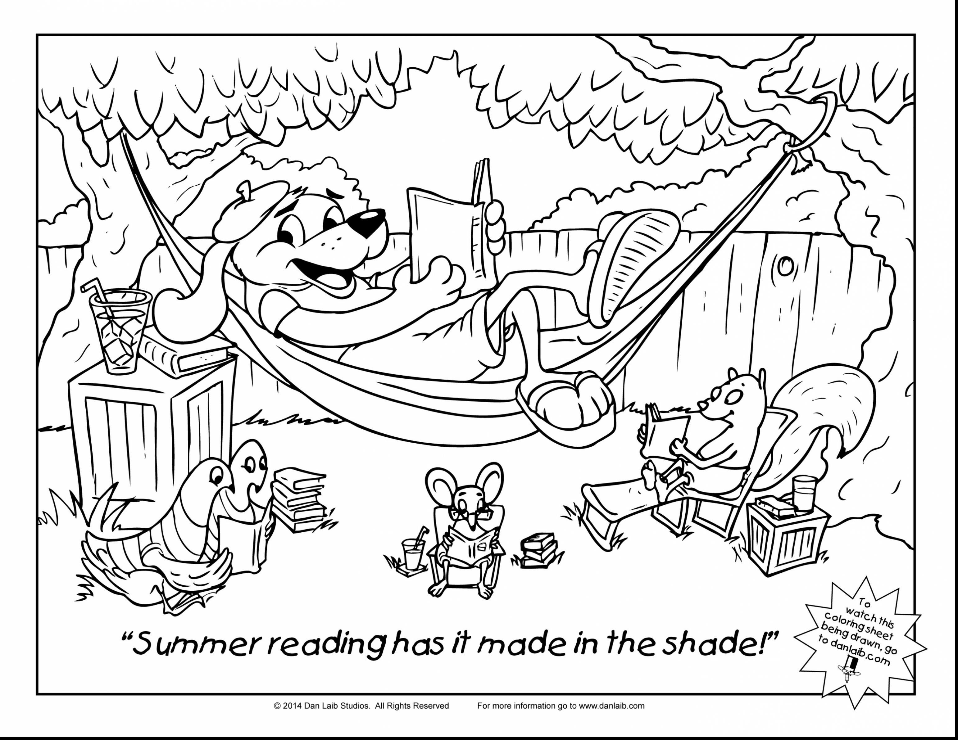 Kids Reading Coloring Pages At Getcolorings