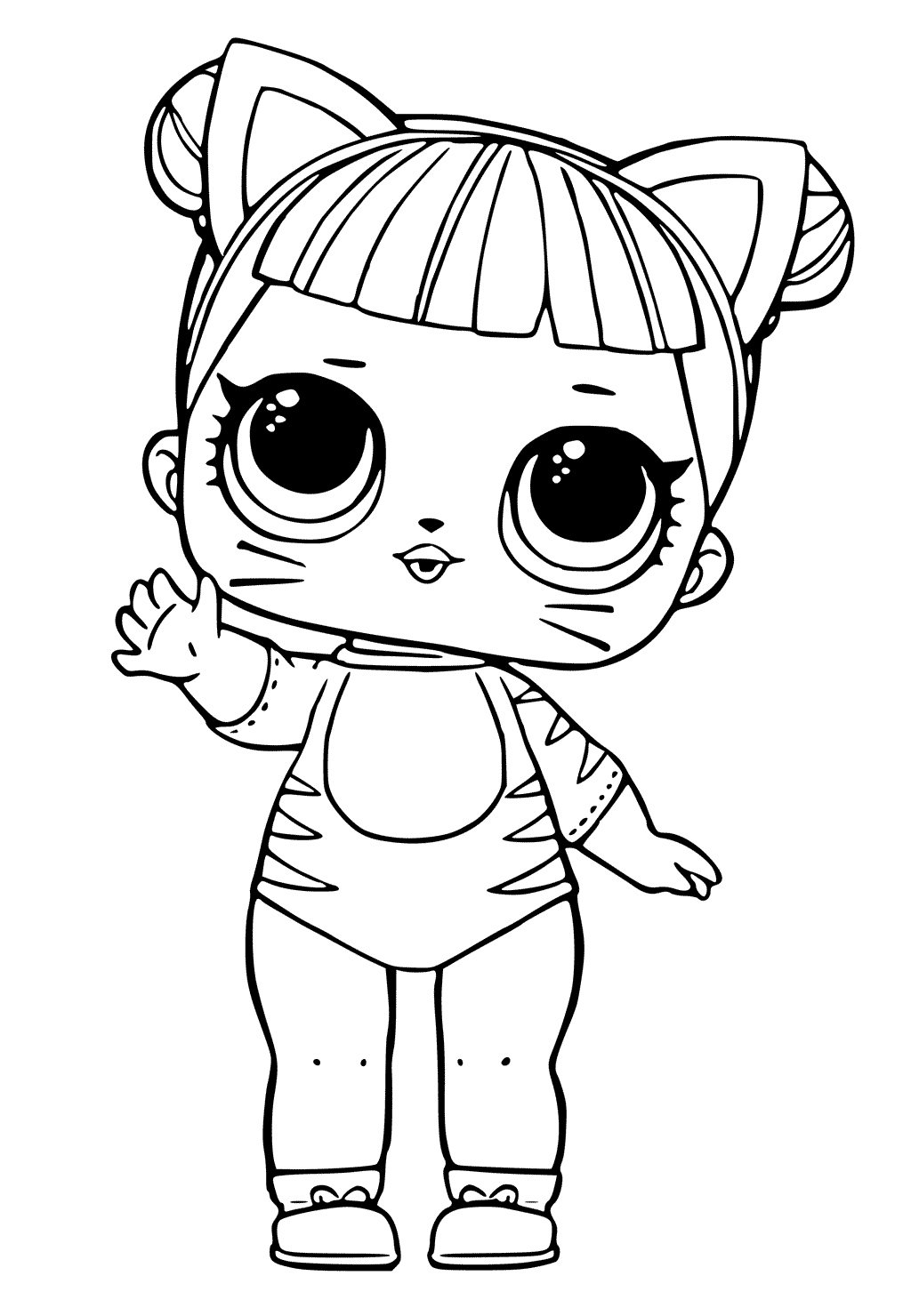 Bunny Lol Doll Coloring Pages   Coloring and Drawing