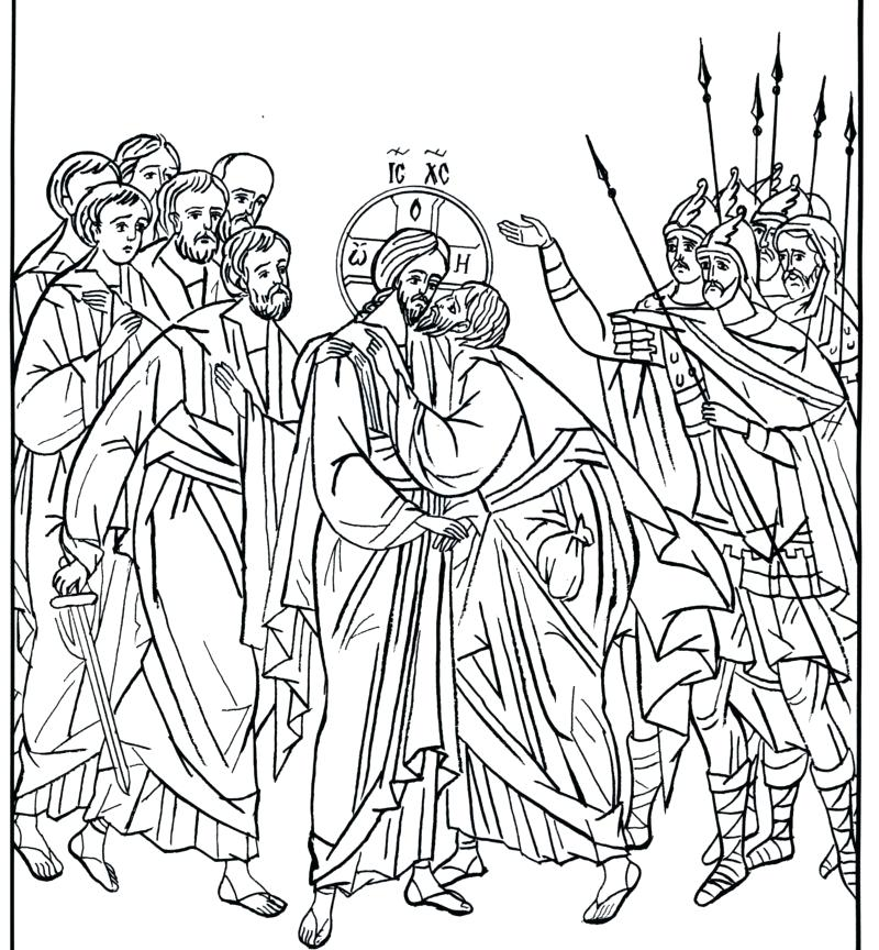 Last Supper Coloring Pages Printable at GetColorings.com