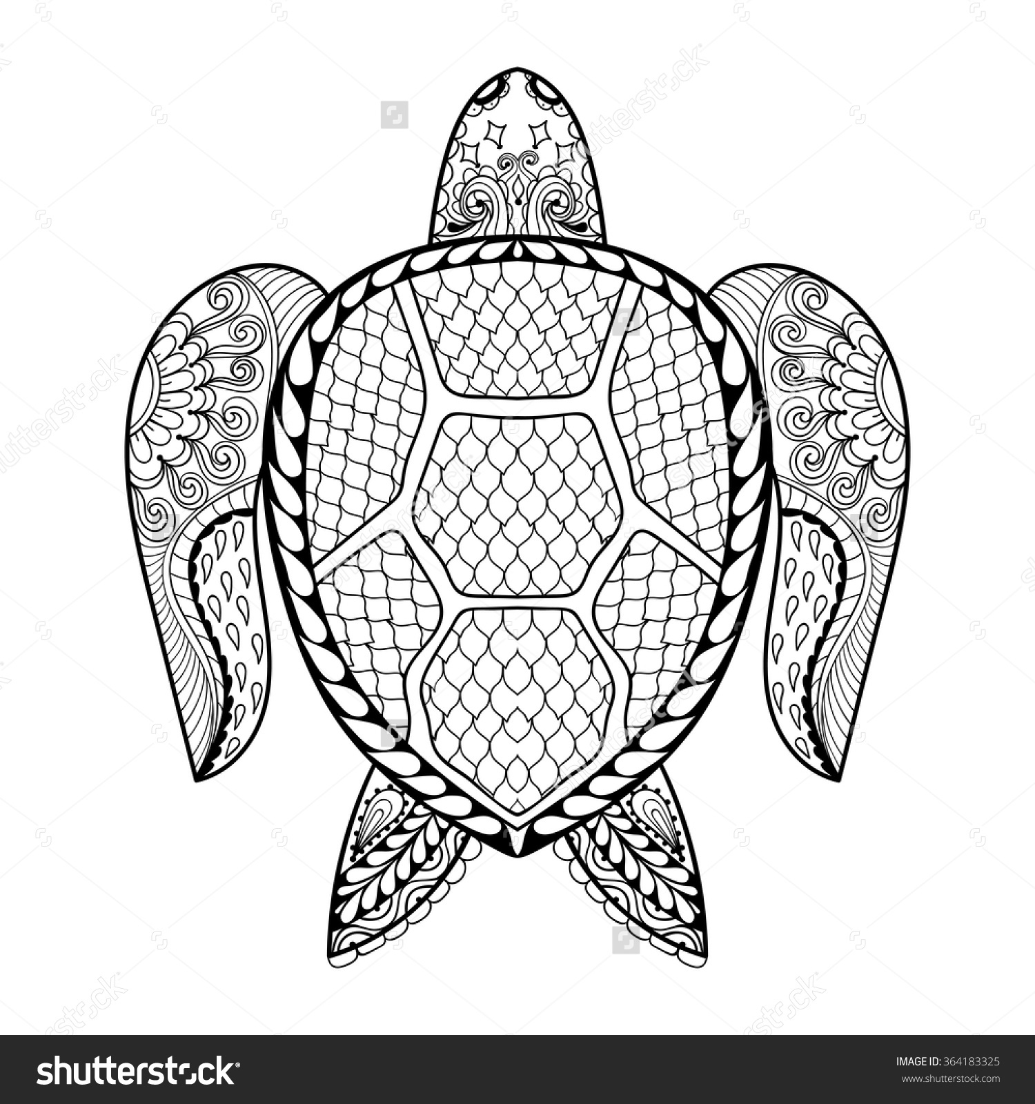 Leatherback Sea Turtle Coloring Page At Getcolorings