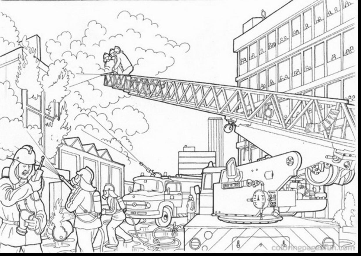 Printable Worksheet For Fire Station