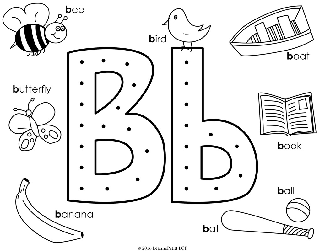 Letter B Coloring Pages At Getcolorings