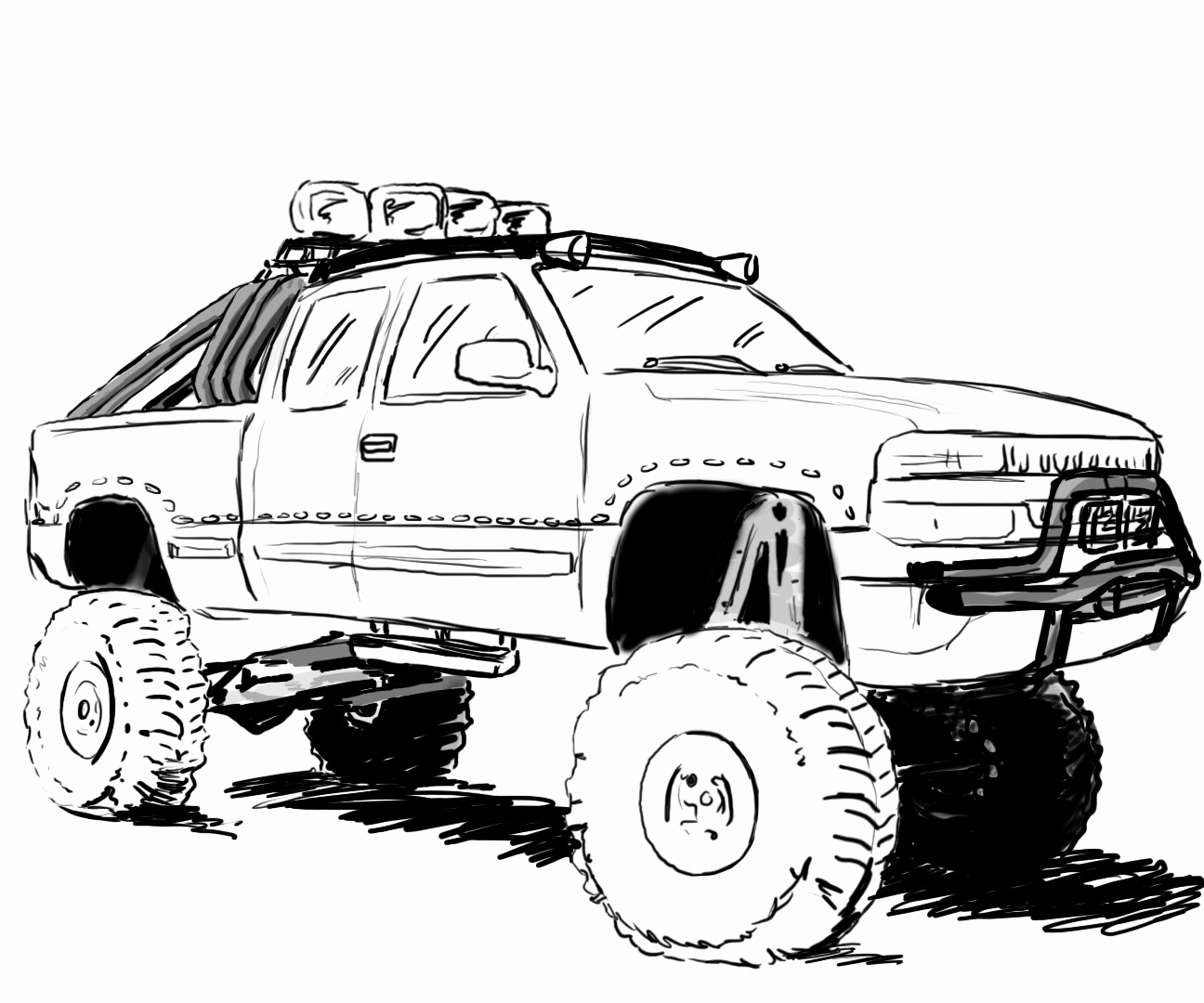 Lifted Dodge Cummins Truck Page Coloring Pages
