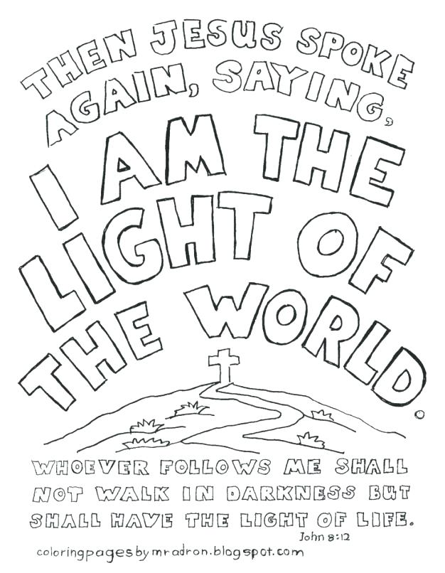 Light Of The World Coloring Page at GetColorings.com