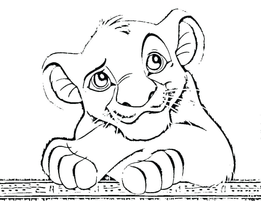Lion King Coloring Pages Simba At Getcolorings