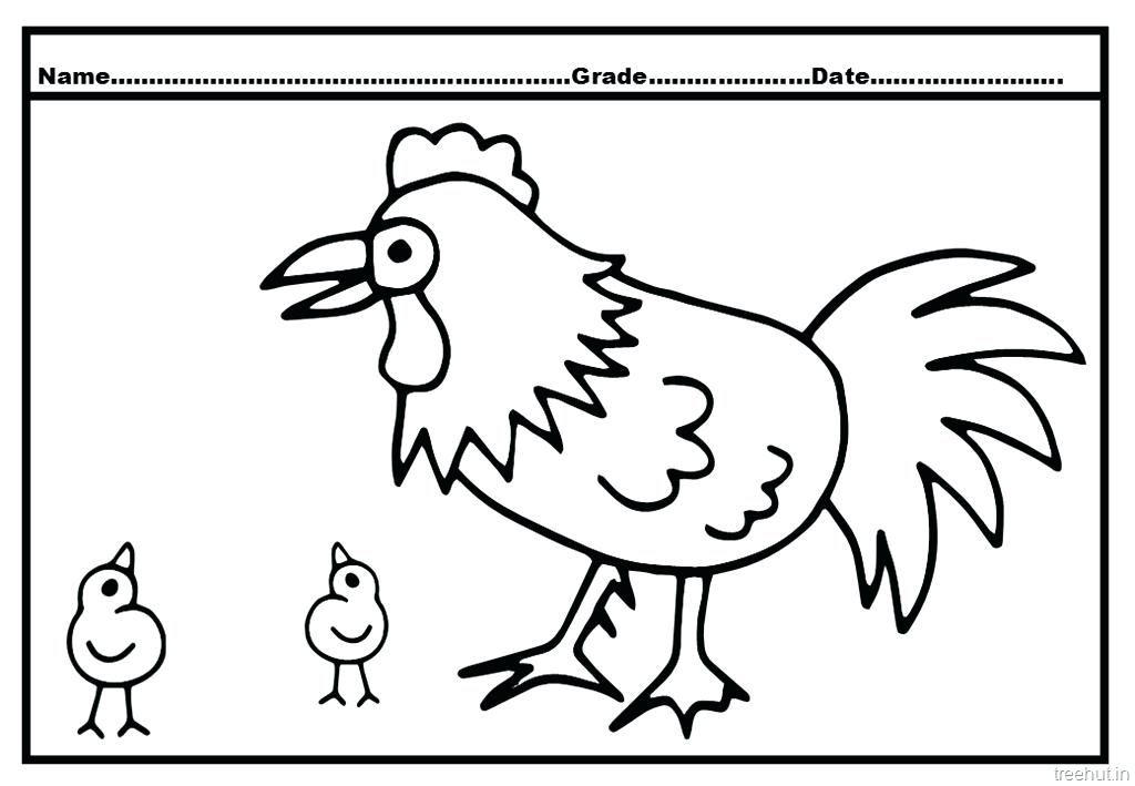 Little Red Hen Coloring Pages Az Sketch Coloring Page
