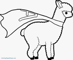 Alapaca Kleurplaat Ausmalbild Zwei Alpakas Ausmalbilder ...