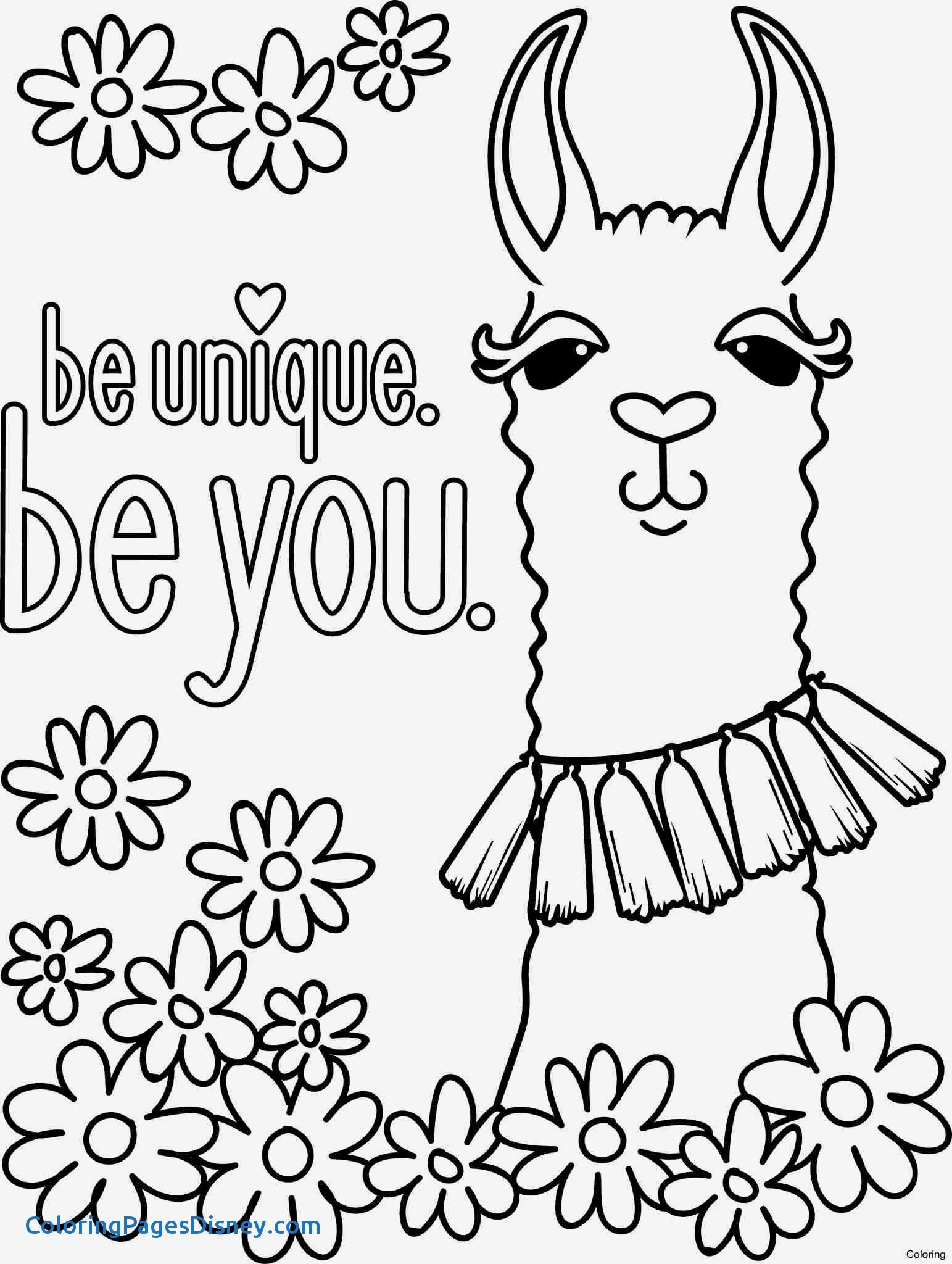 Llamacorn Coloring Pages At Getcolorings