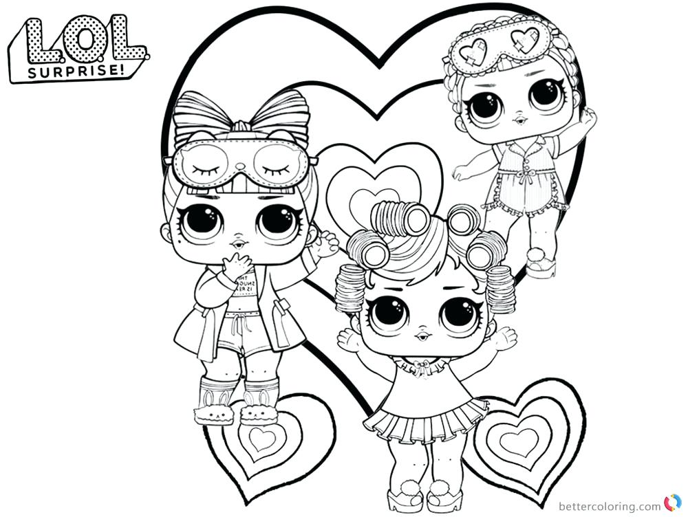 Lol Doll Rocker Coloring Pages