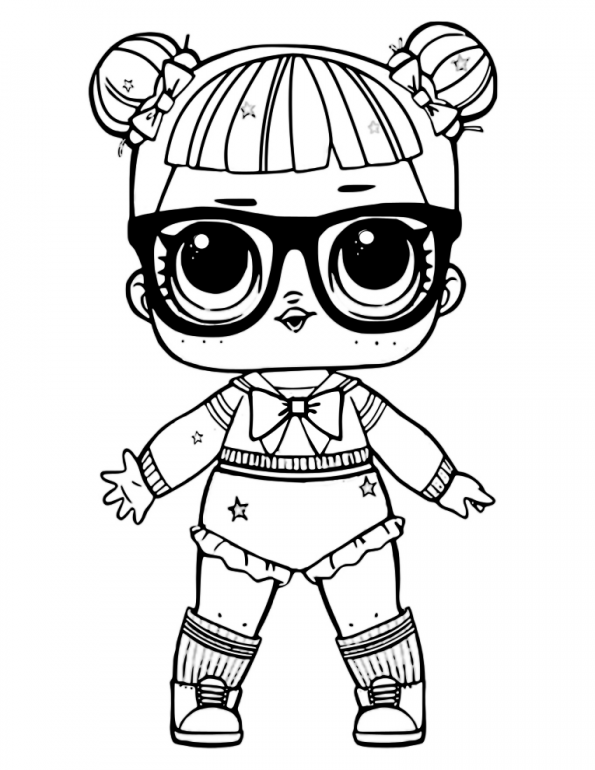 Lil Treasure Lol Surprise Doll Coloring Page