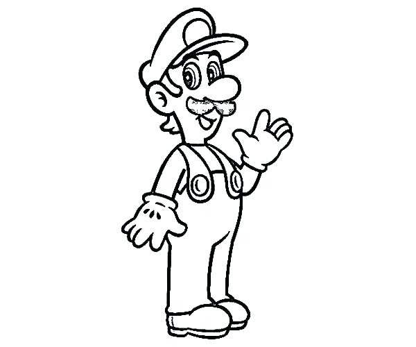 Luigi Coloring Pages at GetColorings Free printable