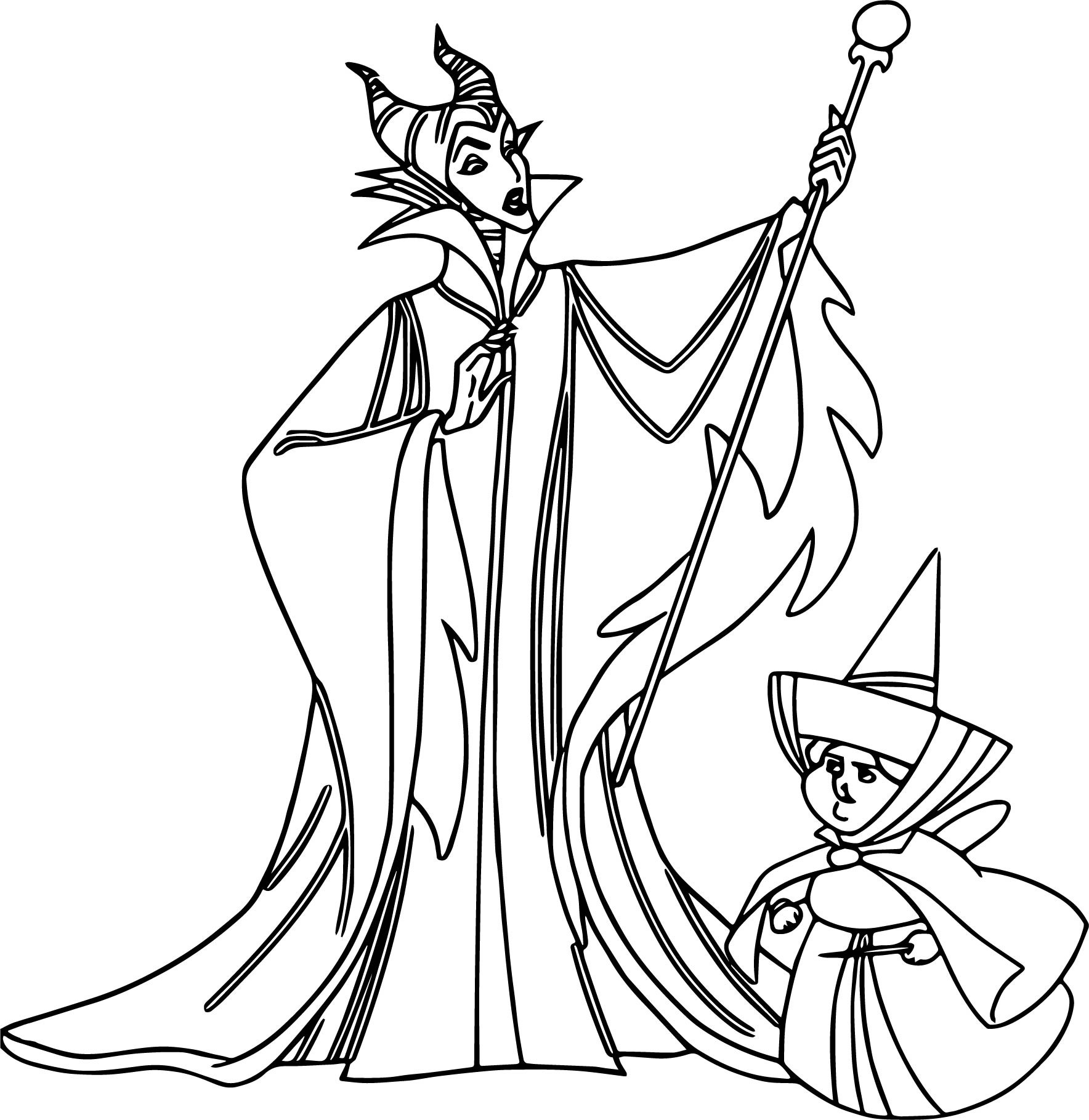 Maleficent Dragon Coloring Pages at GetColorings.com