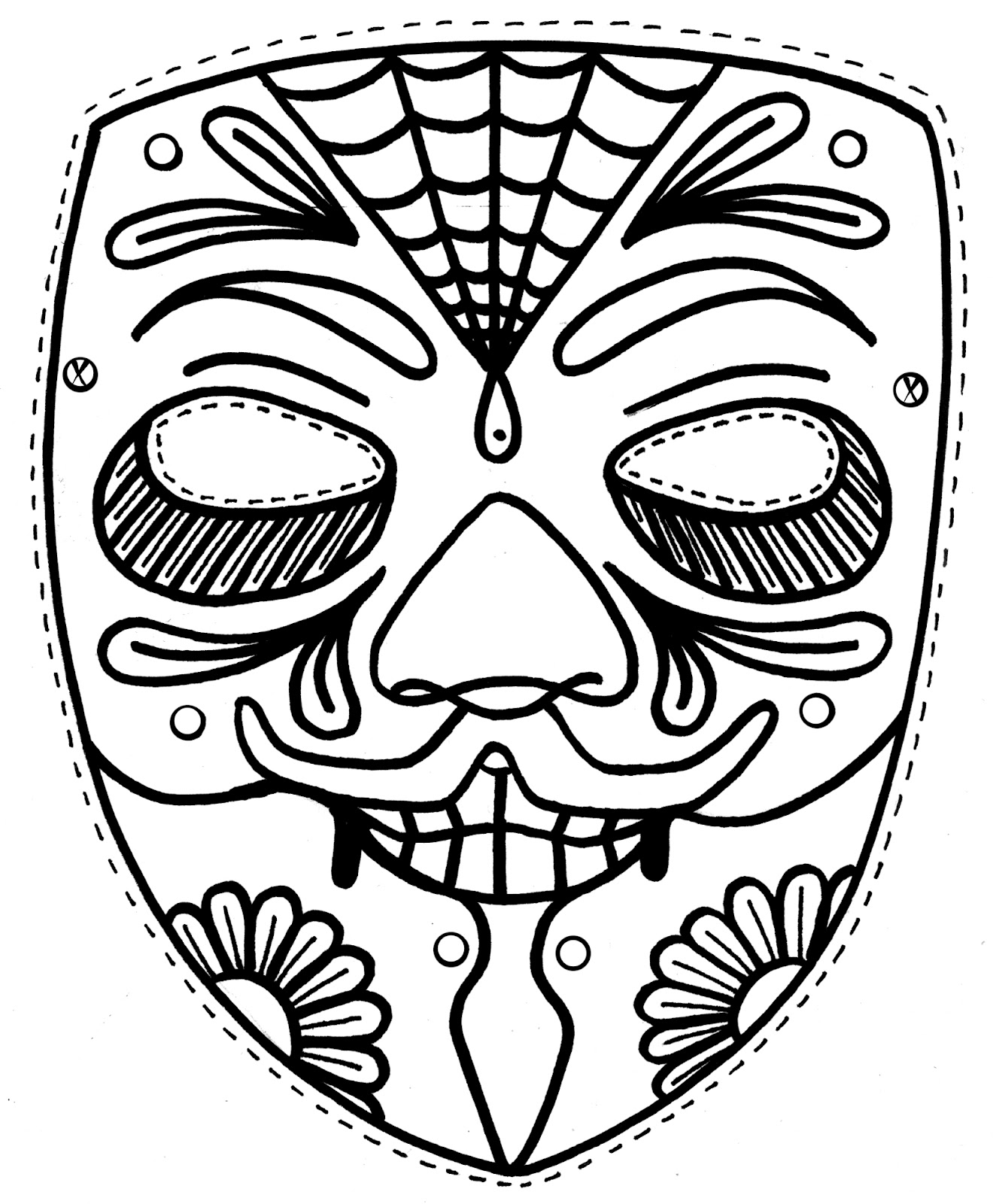 Mardi Gras Mask Coloring Pages For Kids At Getcolorings