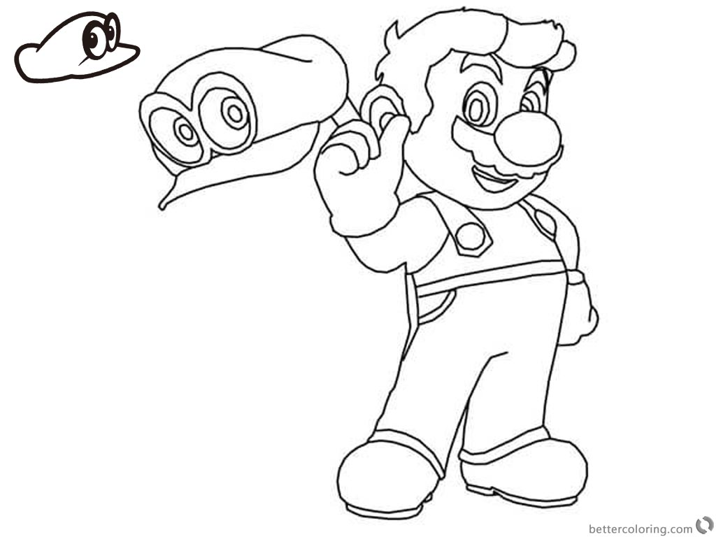 Mario Odyssey Coloring Pages At Getcolorings