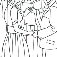 Marriage Coloring Page at GetColorings.com   Free ...