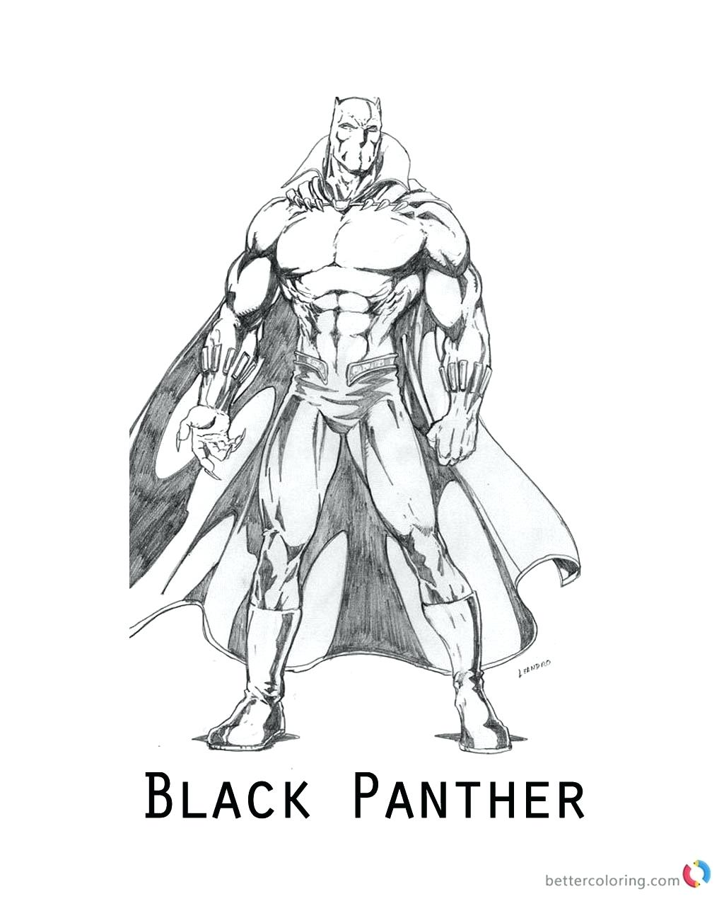 Marvel Black Panther Coloring Pages at GetColorings.com