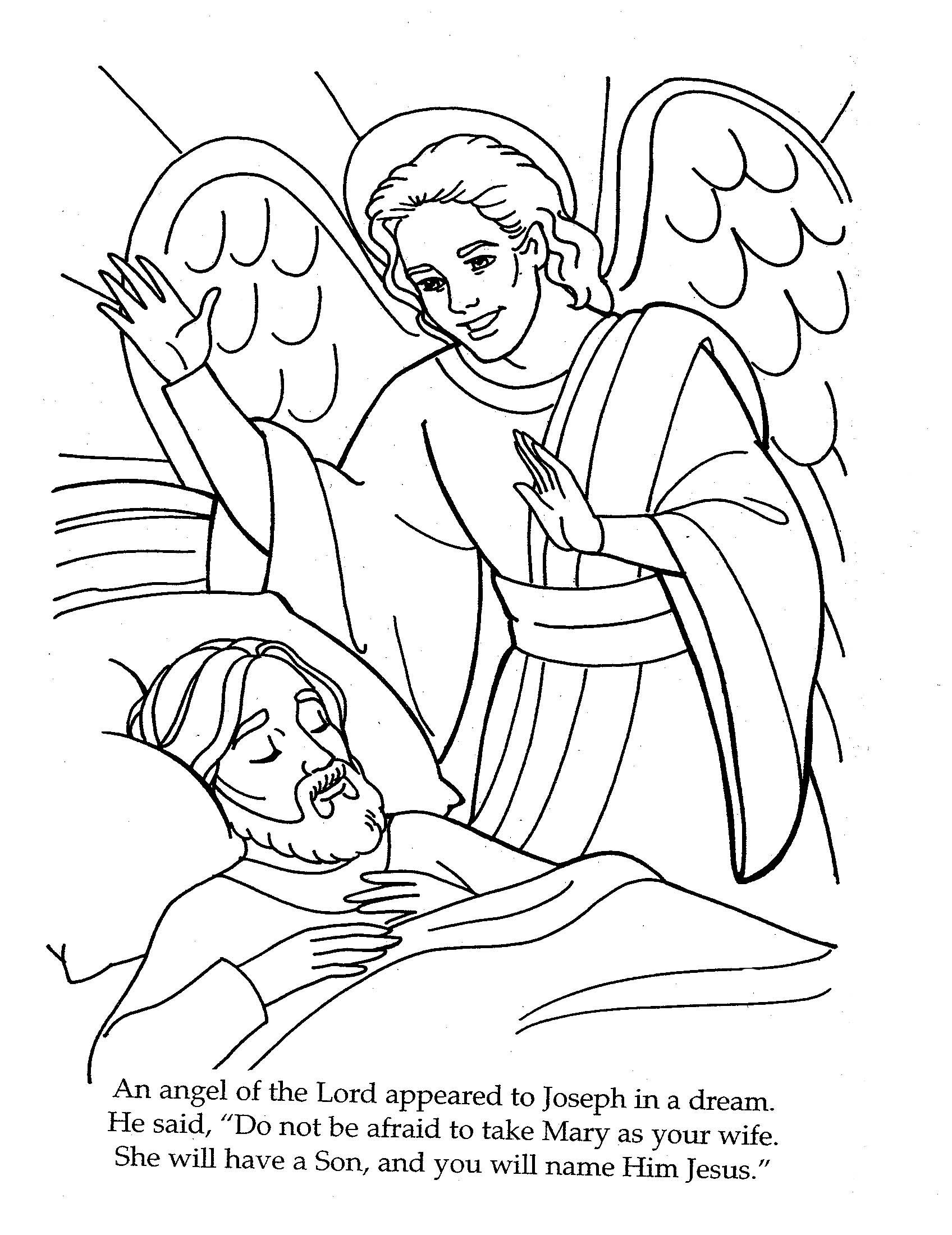 Mary Joseph Jesus Coloring Pages At Getcolorings