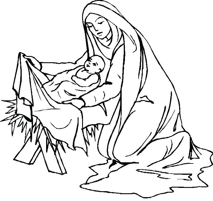 Mary Mother Of Jesus Coloring Pages at GetColorings.com