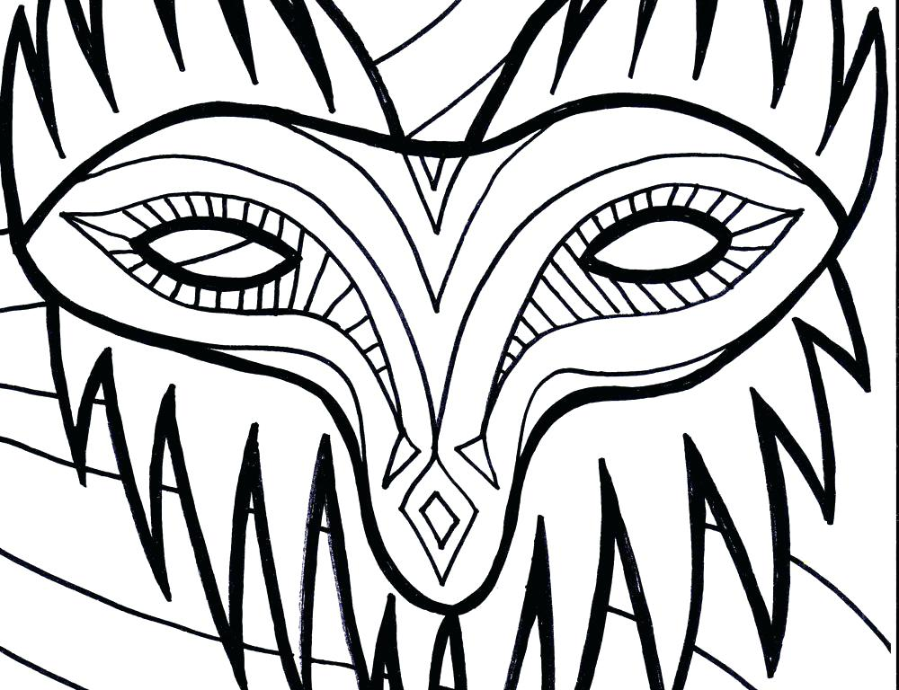Masquerade Mask Coloring Pages At Getcolorings Com