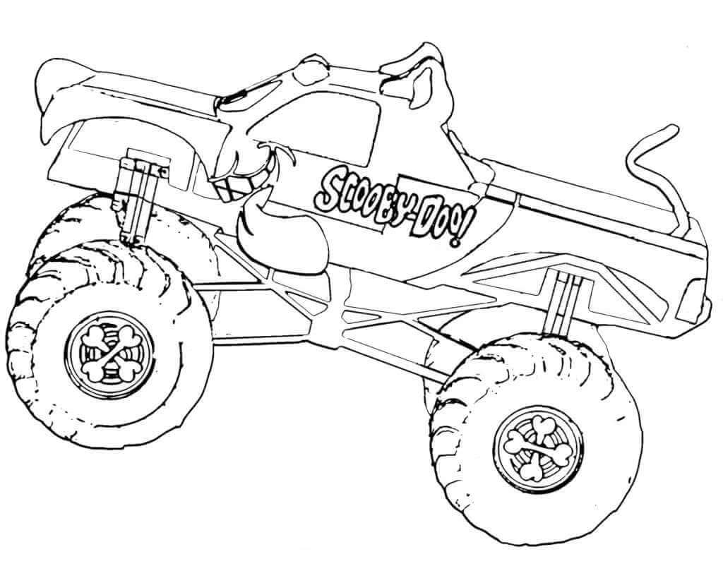 Free Printable Monster Truck Coloring Pages at