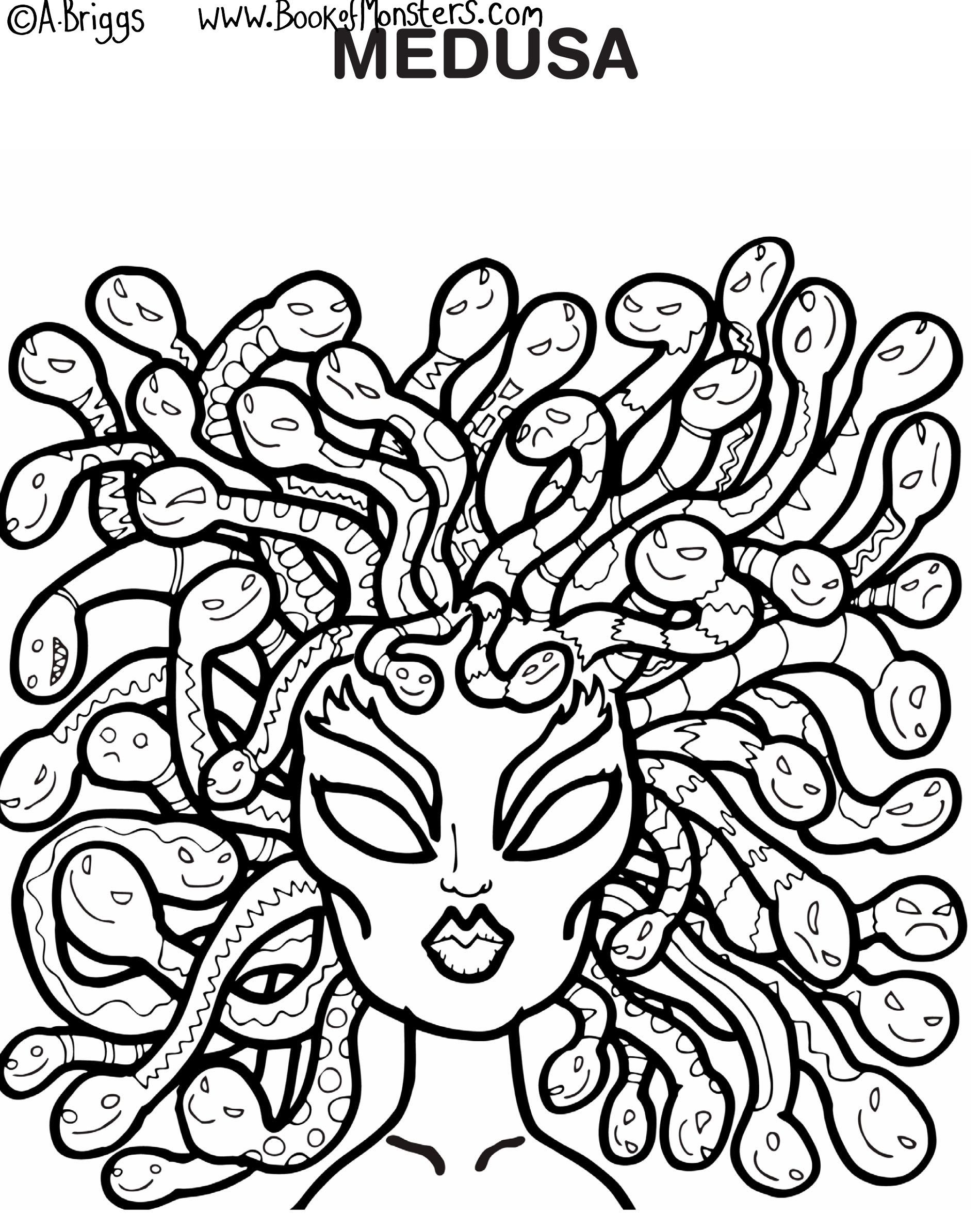 Medusa Coloring Pages At Getcolorings