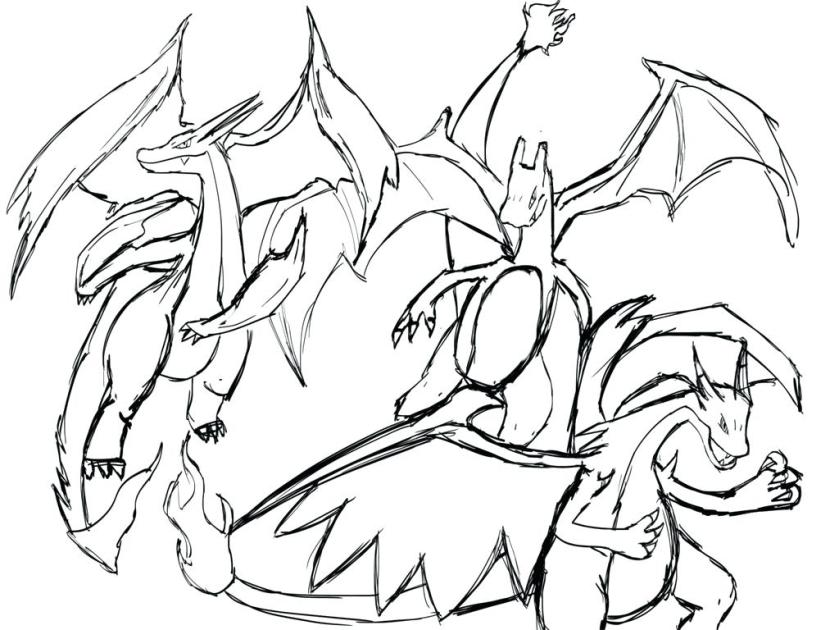 mega charizard x coloring page at getcolorings  free