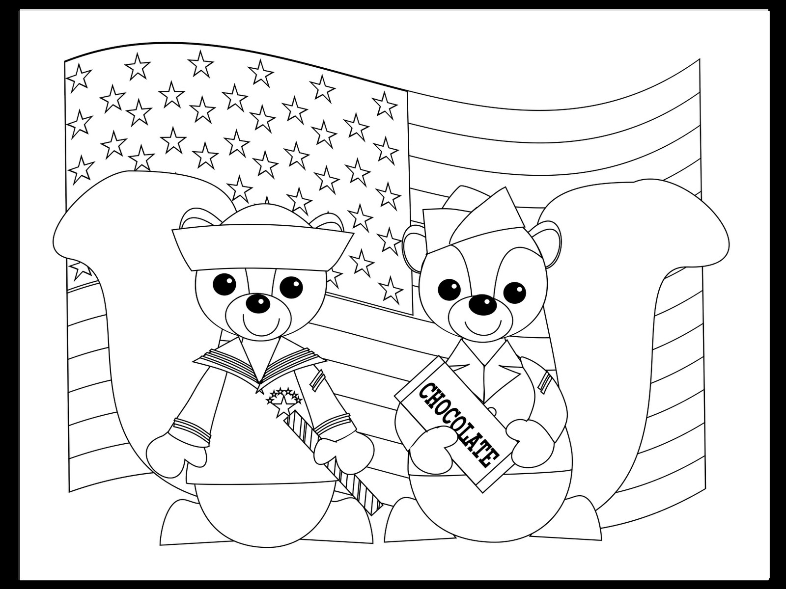 Memorial Day Coloring Pages For Preschoolers At