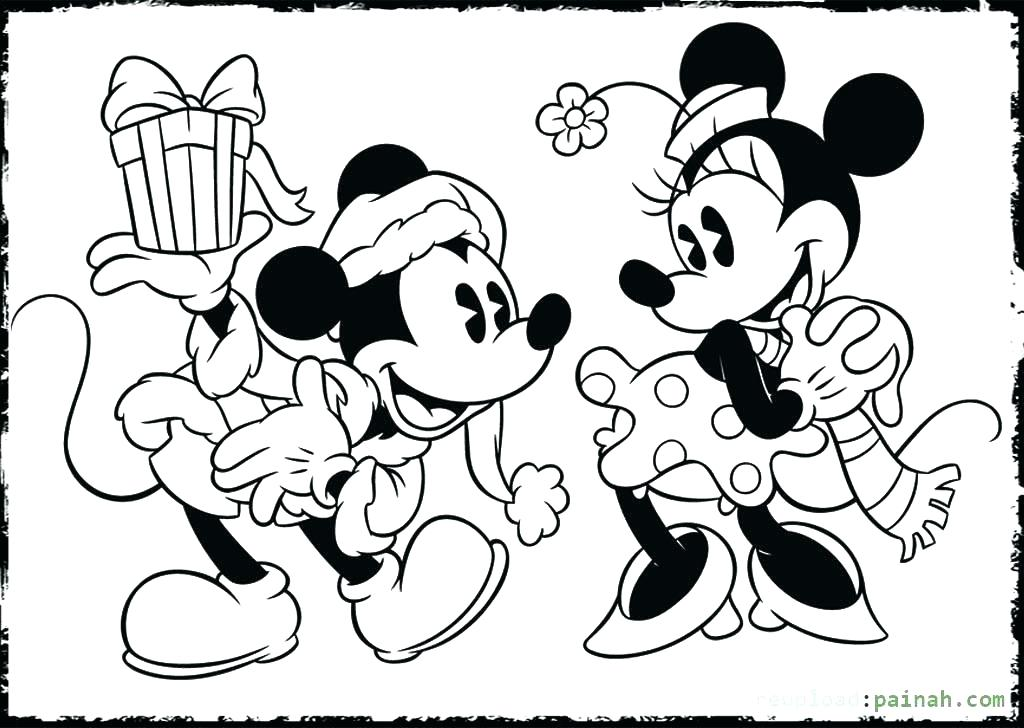 Minnie Coloring Kissing And Mouse Mickey Pages
