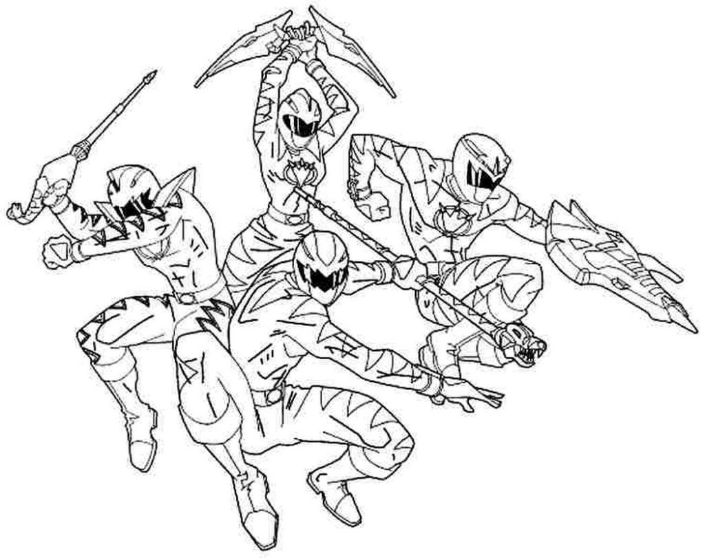 Mighty Morphin Power Rangers Coloring Pages At