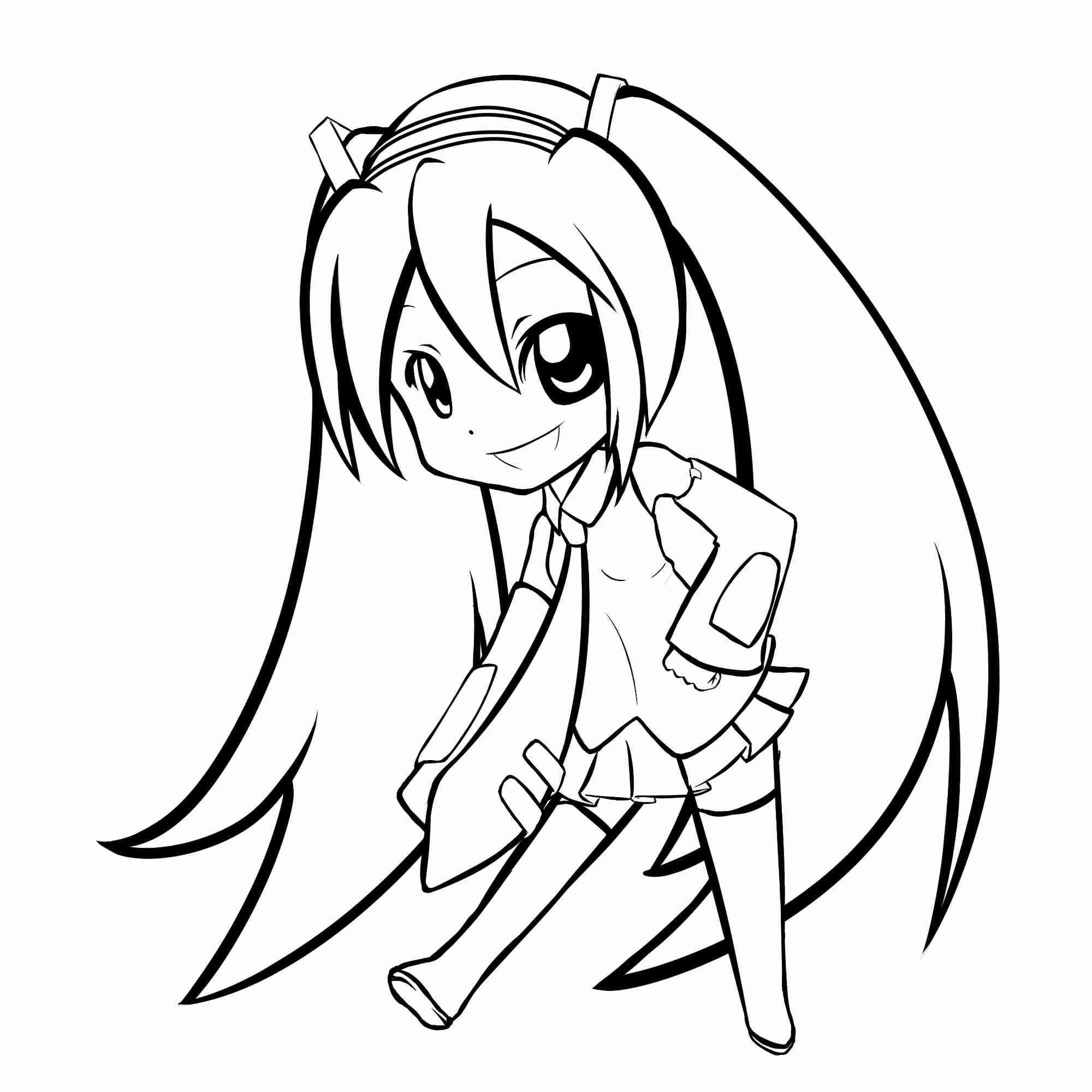 Miku Coloring Pages At Getcolorings